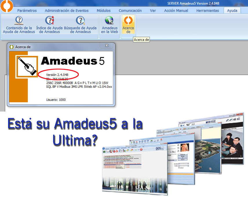 Versión Amdeus5 actualización