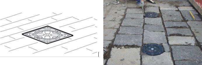 suelo pilona automática