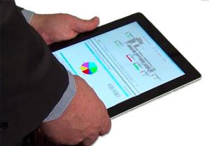 Sistema cuenta personas en un iPad